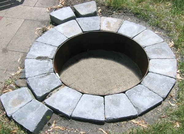 Fire Ring is a heavy steel fire insert designed to protect fire pit bricks  or blocks from direct heat. - Aspen Industries Gas Logs & Fire Pits